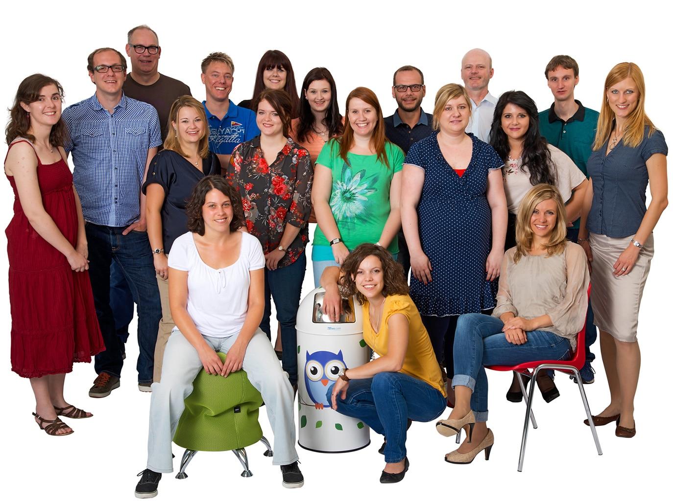 Firmen mitarbeiter gruppenbild herb allgaier fotografie for Originelle geschenke fa r mitarbeiter